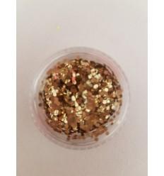Glitter Doré hexagonale pour Nail Art
