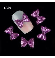 Bijoux pour ongles Grand nœud violet