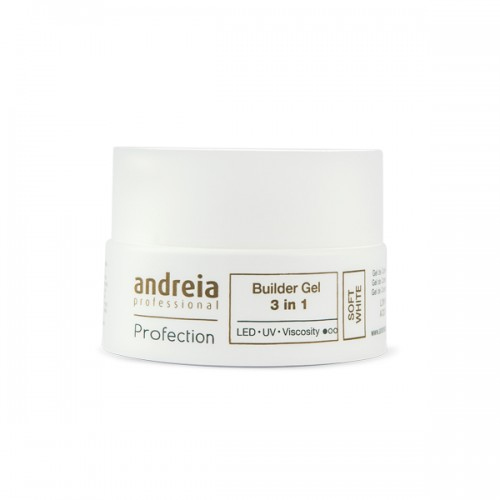 PROFECTION BUILDER GEL 3 EN 1 SOFT WHITE ANDREIA 22G